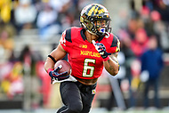 College Park, MD - NOV 11, 2017: Maryland Terrapins running back Ty Johnson (6) runs the football during game between Maryland and Michigan at Capital One Field at Maryland Stadium in College Park, MD. (Photo by Phil Peters/Media Images International)