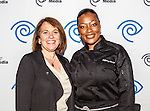 Tiffany Derry and Carole Hart at the Time Warner Media Cabletime Upfront media event held at the Private Social Restaurant  in Dallas, Texas.