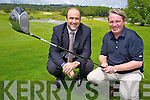 Tomas Kelliher, chairman of the championship committee and Maurice O'Meara, general manager, Killarney Golf and Fishing club, pictured ahead of the Irish Open which will be held in Killarney in July.