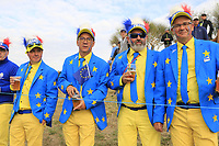 Team Europe fans during Friday's Fourball Matches at the 2018 Ryder Cup, Le Golf National, Iles-de-France, France. 28/09/2018.<br /> Picture Eoin Clarke / Golffile.ie<br /> <br /> All photo usage must carry mandatory copyright credit (© Golffile | Eoin Clarke)