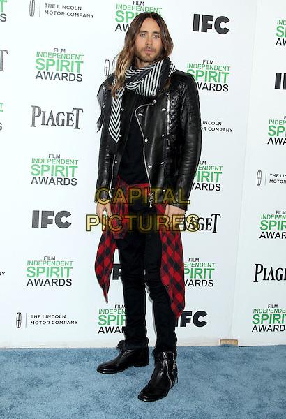 1 March 2014 - Santa Monica, California - Jared Leto. 2014 Film Independent Spirit Awards held at Santa Monica Beach. <br /> CAP/ADM/RE<br /> &copy;Russ Elliot/AdMedia/Capital Pictures