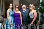 Enjoying  The Midsummer's Ball in aid of the Palliative Care Unit at the Rose Hotel on Friday were Bred Lynch, Aileen Diggins, Danny Diggins and Joanne Crowley