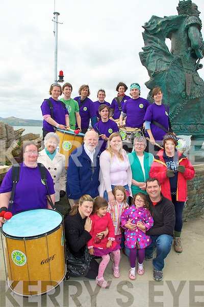 FESTIVAL: Taking part in the St Brendan's Festival on Sunday in Fenit, Front l-r: Sinead,Alison,Isabel and John Moriarty (Fenit). Centre l-r: Birit Tol, Marie O'Connell, David Slattery, Mary and Saoirse O'Brien Kitty O'Donnell and Julie McGrath. Back l-r: Teddy Moynihan, Teresa Galvin, Tony Hickey, Francis Meehan, Maria McCarthy, Mike Flaherty,Matt Hodd and Dave Yaxley................................... ....
