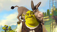 BNPS.co.uk (01202 558833)<br /> Pic: DreamWorks  <br /> <br /> Treasure hunter Ron Silvester was stunned when he unearthed an ancient coin with the face a Donkey from Shrek on it.<br /> <br /> Ron, 69, was metal detecting for the very first time when he found the 2,000-year-old silver coin.<br /> <br /> It was later identified as a 'Tasciovnos Ver' coin, which dates back to the Iron Age.<br /> <br /> In its prime the piece would have depicted a noble horse but over time parts of the face have faded away.
