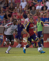 Real Salt Lake forward Yura Movsisyan (14) brings ball forward. Salt Lake Real defeated Toronto FC, 3-0, at Rio Tinto Stadium on June 27, 2009.