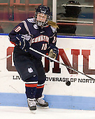Stephanie Raithby (UConn - 10) - The visiting University of Connecticut Huskies defeated the Northeastern University Huskies 4-2 (EN) in NU's senior game on Saturday, February 19, 2011, at Matthews Arena in Boston, Massachusetts.