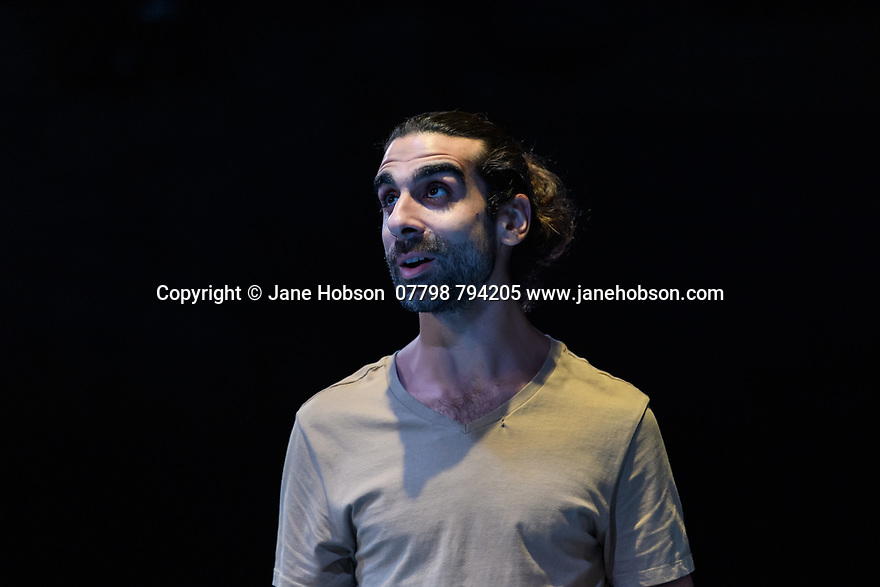 """""""The Arrival"""", written and directed by Bijan Sheibani, opems at the Bush Theatre. Set and costume design is by Samal Black, lighting design by Oliver Fenwick, movement direction by Aline David. The Picture shows: Scott Karim (Tom)."""