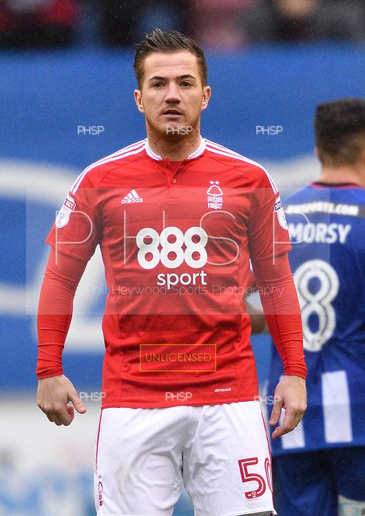 25/02/2017 Sky Bet Championship Wigan Athletic v Nottingham Forest<br /> <br /> Ross McCormack, Nottingham Forest FC