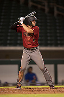 AZL Diamondbacks third baseman Joe Gillette (6) at bat during an Arizona League game against the AZL Cubs 1 at Sloan Park on June 18, 2018 in Mesa, Arizona. AZL Diamondbacks defeated AZL Cubs 1 7-0. (Zachary Lucy/Four Seam Images)