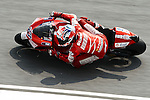 KUALA LUMPUR, MALAYSIA - OCTOBER 24:  Casey Stoner of Australia rides the #27 Ducati Marlboro Team Ducati during free practice for the Malaysian MotoGP, which is round 16 of the MotoGP World Championship at the Sepang Circuit on October 24, 2009 in Kuala Lumpur, Malaysia.  Photo by Victor Fraile / The Power of Sport Images
