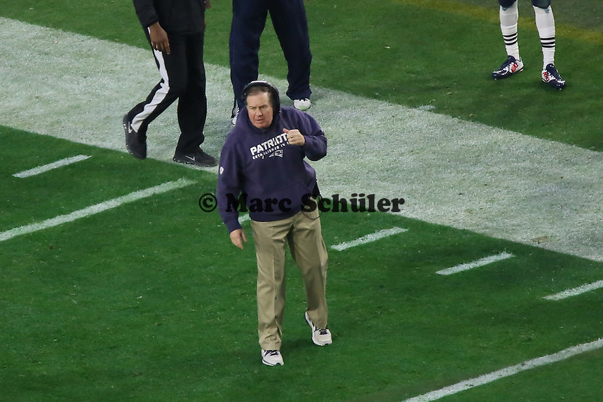 Head Coach Bill Belichick (Patriots) - Super Bowl XLIX, Seattle Seahawks vs. New England Patriots, University of Phoenix Stadium, Phoenix