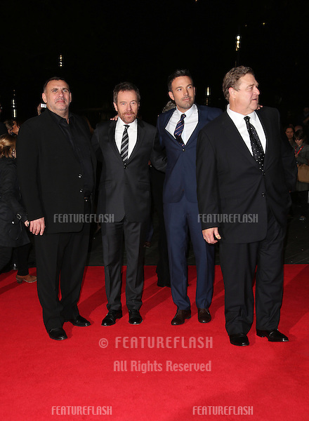 Graham King, Bryan Cranston, Ben Affleck and John Goodman at the 56th BFI London Film Festival: Argo - Accenture gala, held at the Odeon Leicester Square. 17/10/2012 Picture by: Henry Harris / Featureflash