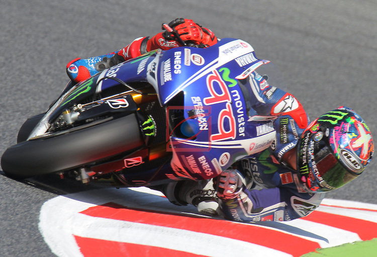 Gran Premi Monster Energy de Catalunya.<br /> Saturday Qualifying 2. Picture show Jorge Lorenzo (SPA) Movistar Yamaha moto GP Team at Circuit de Barcelona-Catalunya.