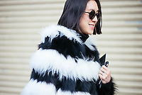 Eva Chen attends Day 4 of New York Fashion Week on Feb 16, 2015 (Photo by Hunter Abrams/Guest of a Guest)