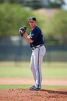 Atlanta Braves pitcher Devan Watts (36) gets ready to deliver a pitch during an Instructional League game against the Philadelphia Phillies on October 9, 2017 at the Carpenter Complex in Clearwater, Florida.  (Mike Janes/Four Seam Images)
