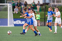 Boston, MA - Friday August 04, 2017: Angela Salem and Lo'eau Labonta during a regular season National Women's Soccer League (NWSL) match between the Boston Breakers and FC Kansas City at Jordan Field.
