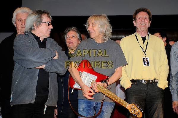 LONDON, ENGLAND - March 1: Bill Wyman, Albert Lee and Joe Brown at the Albert Lee 70th Birthday Celebration concert at Cadogan Hall on March 1, 2014 in London, England<br /> CAP/MAR<br /> &copy; Martin Harris/Capital Pictures