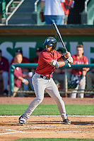 Ismaldo Rodriguez (6) of the Idaho Falls Chukars at bat against the Ogden Raptors at Lindquist Field on August 9, 2019 in Ogden, Utah. The Raptors defeated the Chukars 8-3. (Stephen Smith/Four Seam Images)