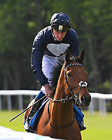 The Juggler ridden by Adam Kirby goes down to the start  of The Smith & Williamson Handicap (Class 6)     during Afternoon Racing at Salisbury Racecourse on 17th May 2018