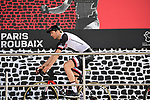 Maximilian Walscheid (GER) Team Sunweb at sign on in Compiegne before the start of the 116th edition of Paris-Roubaix 2018. 8th April 2018.<br /> Picture: ASO/Pauline Ballet | Cyclefile<br /> <br /> <br /> All photos usage must carry mandatory copyright credit (&copy; Cyclefile | ASO/Pauline Ballet)