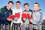 Pictured at the Kerry Community Games table tennis finals in St Marys Parish Hall, Killarney on Sunday were Gearóid Kelly, David O'Donoghue, Daniel Cotter and Kieran Cotter, Knocknagoshel.............