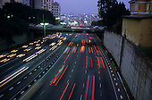 Sao Paulo, Brazil. Evening traffic on the inner ring road.