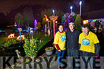 At Ricky Rogers home in Ballinorig Road, Tralee which is all lit up and is hoping everyone will donate to Recovery Haven in Tralee. L to r: Jacinta Bradley (Recovery Haven), Ricky Rogers and Eileen Finn (Recovery Haven)