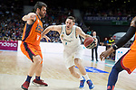 Real Madrid Fabien Causeur and Valencia Basket Fernando San Emeterio during Liga Endesa match between Real Madrid and Valencia Basket at Wizink Center in Madrid , Spain. March 25, 2018. (ALTERPHOTOS/Borja B.Hojas)