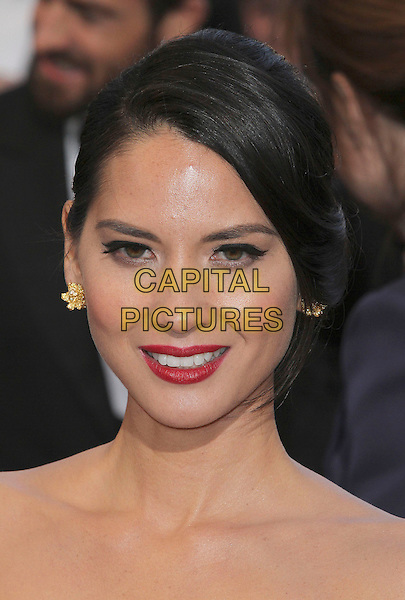 Olivia Munn.85th Annual Academy Awards held at the Dolby Theatre at Hollywood & Highland Center, Hollywood, California, USA..February 24th, 2013.oscars headshot portrait red lisptick.CAP/ADM/SLP/COL.©Colin/StarlitePics/AdMedia/Capital Pictures