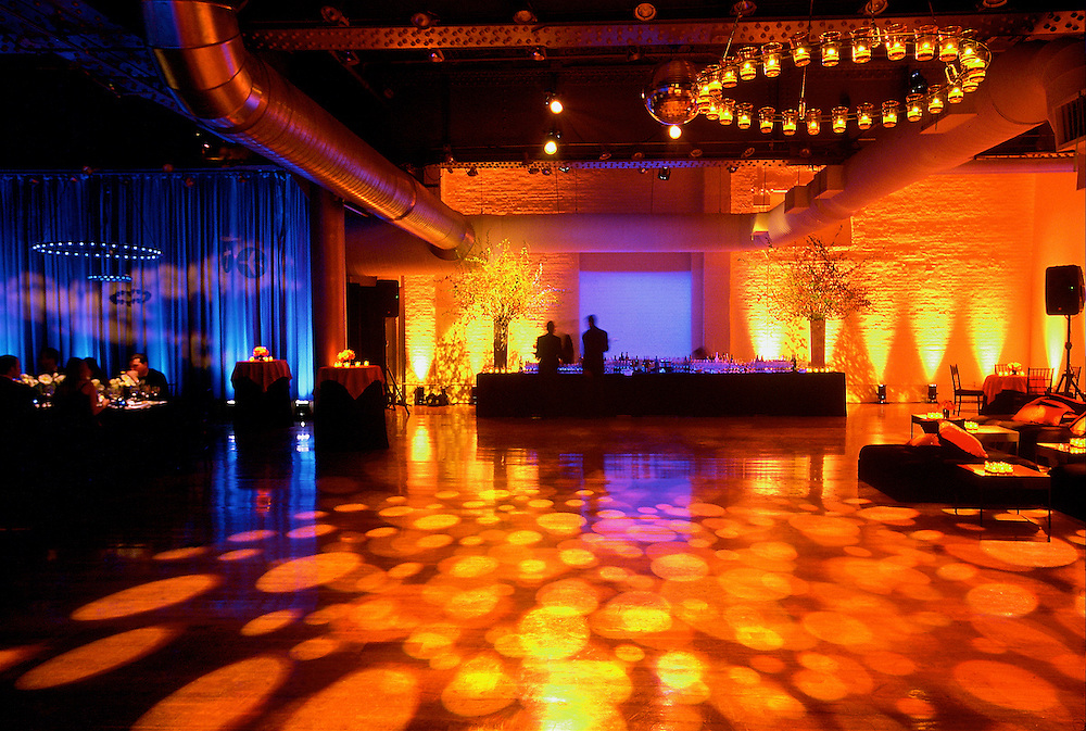 Dramatic lighting for an event at The Altman Building, NYC