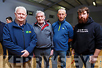 Attending the Kilmoyley public meeting on Monday night at the community centre in Kilmoyley.<br /> L-r, Pat and Kevin Griffin, Eoin McCarthy and Barry Carey (IFA, Crime Prevention Officer).