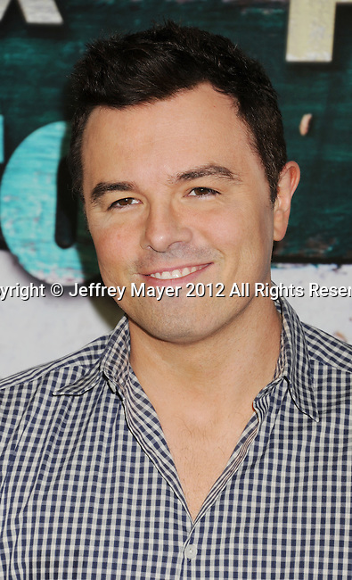 WEST HOLLYWOOD, CA - JULY 23: Seth MacFarlane arrives at the FOX All-Star Party on July 23, 2012 in West Hollywood, California.