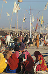 It was estimated that 30 million pilgrims visited the Maha Kumbha Mela in 1989 making it the largest gathering of any kind in modern history.Sadhus holy men and pilgrims come to bathe at the Sangam where the Ganges,Yamuna and Saraswati Rivers meet. Maha Kumbha Mela is held every twelve years at Prayag (Allahabad) in Uttar Pradesh in India.