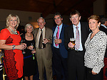 Ann Humphries, Margaret and John Cronin, Chris Douglas, Righard Mellon and Elizabeth Campbell at the Captain's dinner at Seapoint Golf Club. Photo:Colin Bell/pressphotos.ie