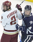 Benn Ferreiro, Craig Switzer - The Boston College Eagles and University of New Hampshire earned a 3-3 tie on Thursday, March 2, 2006, on Senior Night at Kelley Rink at Conte Forum in Chestnut Hill, MA.  Boston College honored its three seniors, captain Peter Harrold and alternate captains Chris Collins and Stephen Gionta, before the game.