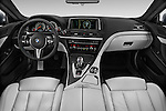Stock photo of straight dashboard view of 2016 BMW M6 Coupe - 3 Door Coupe Dashboard