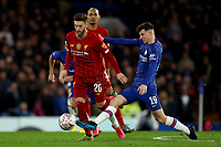 3rd March 2020; Stamford Bridge, London, England; English FA Cup Football, Chelsea versus Liverpool; Mason Mount of Chelsea challenges Adam Lallana of Liverpool