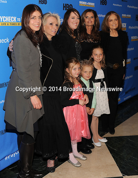 Pictured: Nancy Abraham, Katrina Gilbert, Maria Shriver<br /> Mandatory Credit &copy; Jack Shea/Starshots/Broadimage<br /> Paycheck To Paycheck: The Life And Times Of Katrina Gilbert - New York Premiere<br /> <br /> 3/13/14, New York City, New York, United States of America<br /> <br /> Broadimage Newswire<br /> Los Angeles 1+  (310) 301-1027<br /> New York      1+  (646) 827-9134<br /> sales@broadimage.com<br /> http://www.broadimage.com