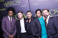 VANCOUVER, BC - OCTOBER 22: Echo Vellum, Alexander Calvert, Rick Gonzales, Katrina Law and David Nykl at the 100th episode celebration for tv's Arrow at the Fairmont Pacific Rim Hotel in Vancouver, British Columbia on October 22, 2016. Credit: Michael Sean Lee/MediaPunch