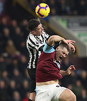 Burnley's Sam Vokes<br /> <br /> Photographer Rachel Holborn/CameraSport<br /> <br /> The Premier League - Burnley v Newcastle United - Monday 26th November 2018 - Turf Moor - Burnley<br /> <br /> World Copyright &copy; 2018 CameraSport. All rights reserved. 43 Linden Ave. Countesthorpe. Leicester. England. LE8 5PG - Tel: +44 (0) 116 277 4147 - admin@camerasport.com - www.camerasport.com