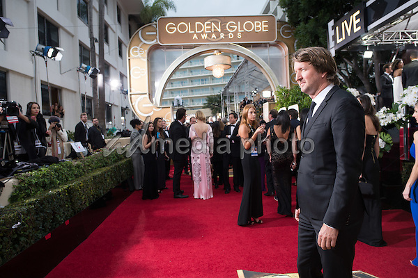 Tom Hooper, attends the 73rd Annual Golden Globe Awards at the Beverly Hilton in Beverly Hills, CA on Sunday, January 10, 2016. Photo Credit: HFPA/AdMedia