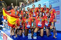 Team SPAIN Silver <br /> Barcelona 28/07/2018 Piscines Bernat Picornell <br /> Men Medal Ceremony <br /> 33rd LEN European Water Polo Championships - Barcelona 2018 <br /> Photo Andrea Staccioli/Deepbluemedia/Insidefoto