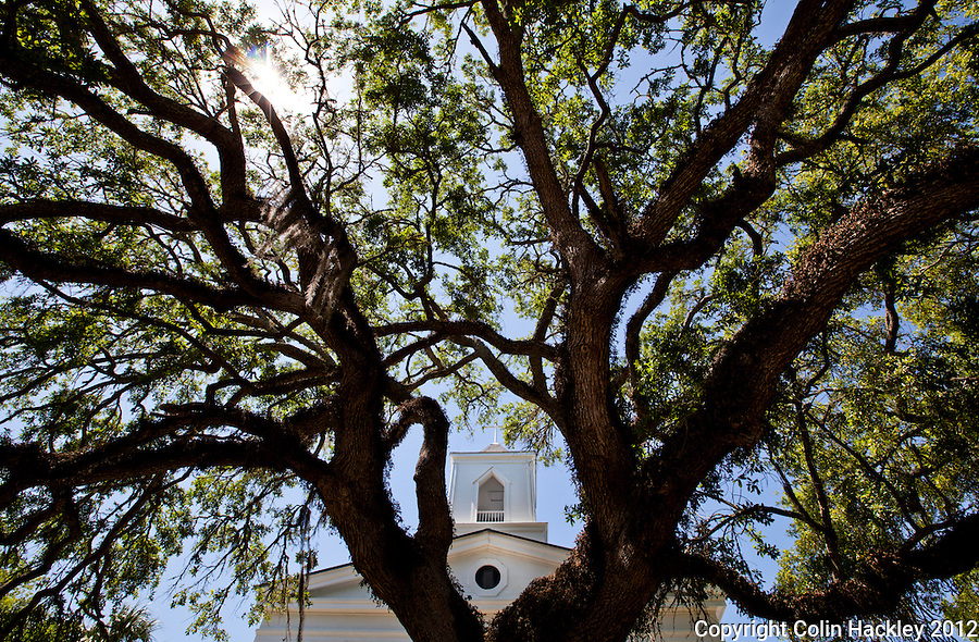 Beneath spreading Live Oak branches, Trinity Episcopal Church has served Apalachicola since 1838..COLIN HACKLEY PHOTO