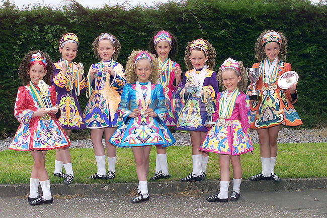 Boylan School of Irish Dancers, Erica Quinn, Kirsty O'Brien, Leane Gaynor, Megan Martin, Ciara Millen, Emily Clinton, Nicole Noone and Aoife Reilly..Picture Fran Caffrey Newsfile...This Picture is sent to you by:..Newsfile Ltd.The View, Millmount Abbey, Drogheda, Co Louth, Ireland..Tel: +353419871240.Fax: +353419871260.GSM: +353862500958.ISDN: +353419871010.email: pictures@newsfile.ie.www.newsfile.ie