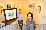 10TH ANNIVERSARY: Artist Olive Stack who is celebrating 10 years in business, pictured here with gallery framer Proinnsias O'Sullivan.   Copyright Kerry's Eye 2008