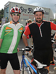 Paul Kerman and Mark Duff who took part in the Ardee Cycle club Mystery cycle tour. Photo: Colin Bell/pressphotos.ie