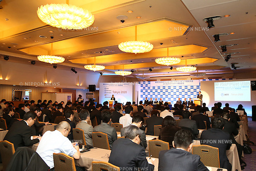 General View,<br /> JANUARY 26, 2015 : <br /> NTT corporation has Press conference at Hotel Okura Tokyo.<br /> NTT corporation today announced that it has entered into a partnership agreement with the Tokyo Organising Committee of the Olympic and Paralympic Games.<br /> (Photo by Shingo Ito/AFLO SPORT)