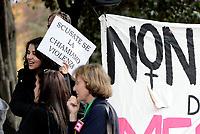 Roma, 22 Marzo 2017<br /> Donne protestano davanti la sede RAI di Viale Mazzini contro sessismo razzismo e stereotipi in TV, dopo la graficasulle donne dell'est andata in onda su Rai Uno.