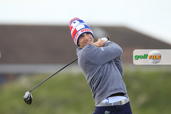 Charles Larcelet (FRA) on the 5th tee during Round 1 of the The Amateur Championship 2019 at The Island Golf Club, Co. Dublin on Monday 17th June 2019.<br /> Picture:  Thos Caffrey / Golffile<br /> <br /> All photo usage must carry mandatory copyright credit (© Golffile | Thos Caffrey)