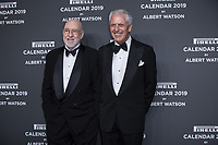 """Marco Tronchetti Provera (Pirelli's President), Albert Watson attends the gala night for official presentation of the Presentation of the Pirelli Calendar 2019 """"The cal"""" held at the Hangar Bicocca. Milan (Italy) on december 5, 2018. Credit: Action Press/MediaPunch ***FOR USA ONLY***"""